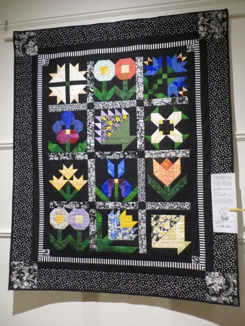 a flowered quilt