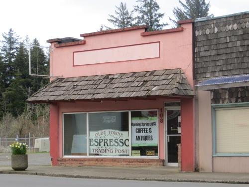 Espresso sign in the window