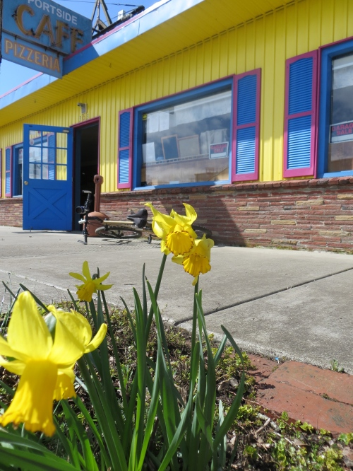 As always, yellow to match the Portside Café