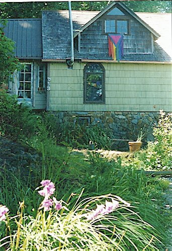 our house, summer 2000, from beside the pond