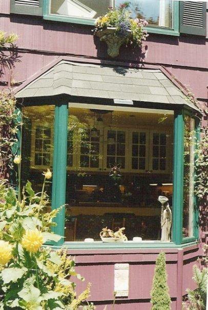 outside the same house's bay window