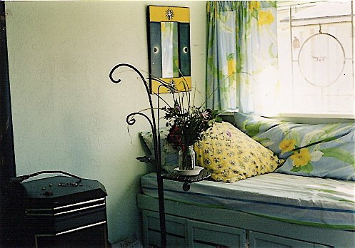 my haven (with the Robert ironwork table that Kathleen had bought)