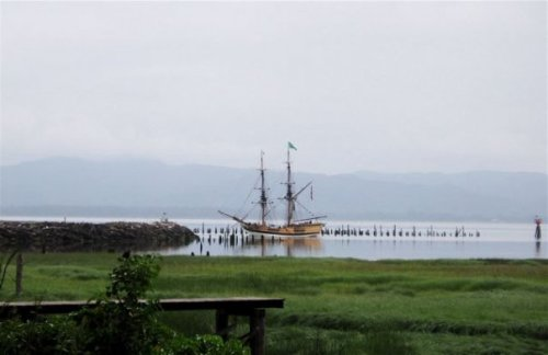 tall ship off China Beach