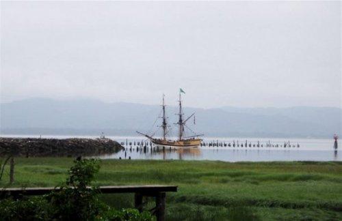 tall ship off China Beach