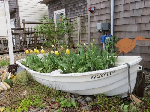 Time Enough Books garden boat