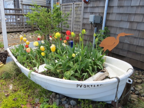 Time Enough Books garden boat