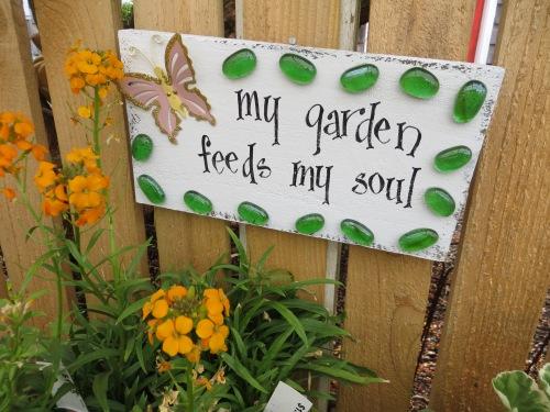 a garden sign
