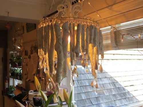 """a driftwood """"chandelier"""""""