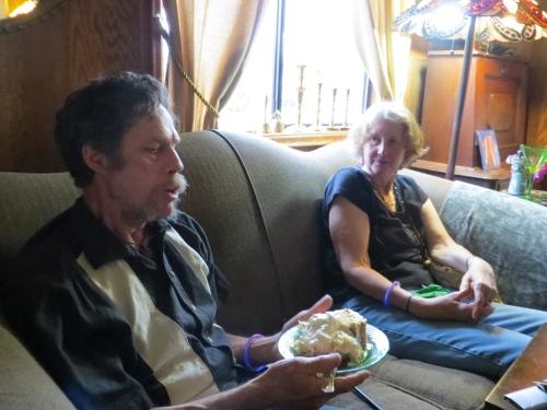 exchanging tales of Alaska