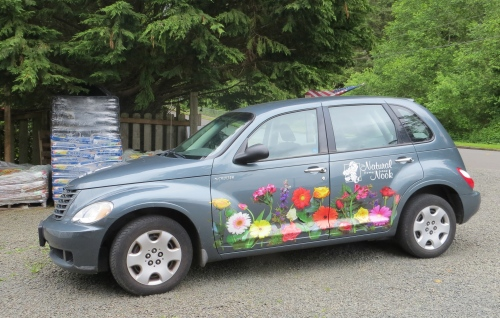 The Natural Nook florist car