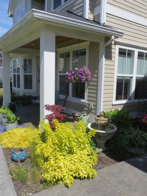 a floriferous porch