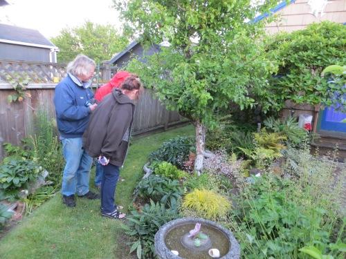 admiring Allan's garden