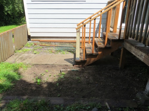 new area to be planted by back porch