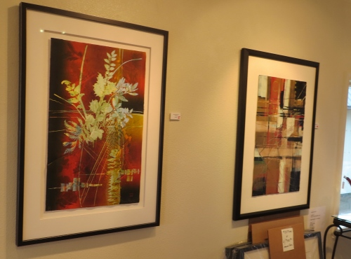 floral monotype in Marie's gallery