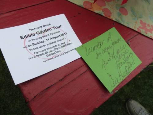 This garden will also be on the Peninsula Edible Garden Tour...
