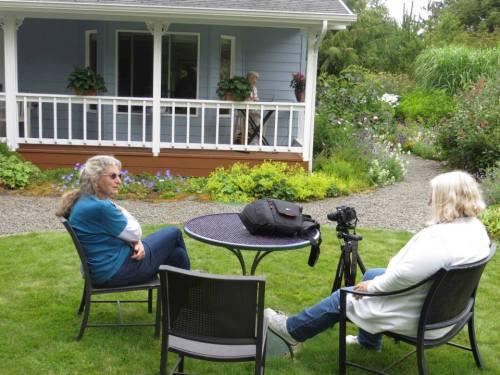 Sheila and Debbie take a break.