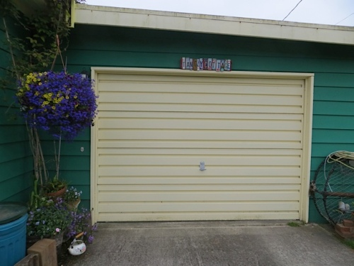 over the garage door