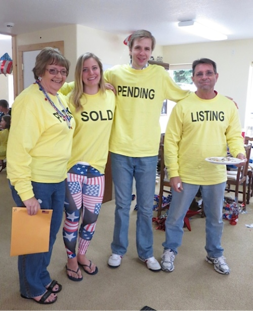 Lighthouse realtors in their parade t shirts