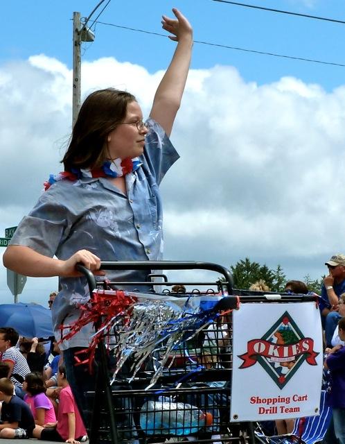 shopping cart drill team