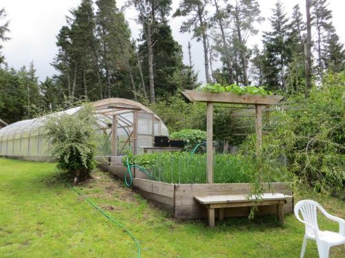 approaching a big hoop house