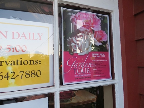 and the garden tour poster in the window!