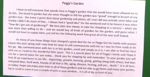 Gene's story of the garden