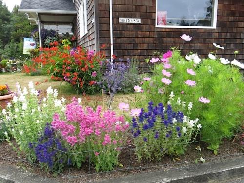 front corner of street-side garden