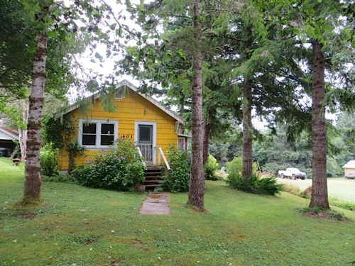 I just like to be around this yellow cottage on School Hill.