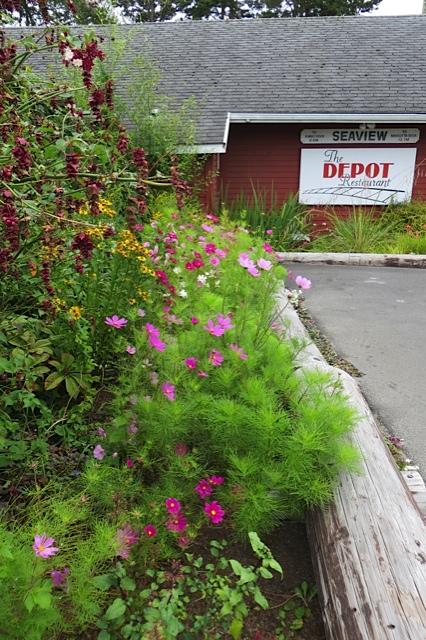 The Depot flower garden