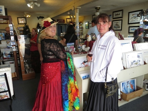 At the Don Nisbett gallery:  Susan and Sherri from Painted Lady Lavender Farm