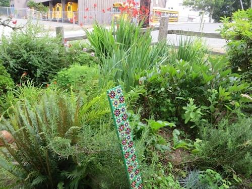 the front garden, weeded
