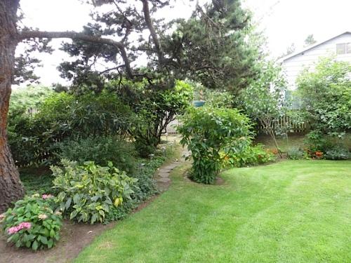 SW corner, front garden
