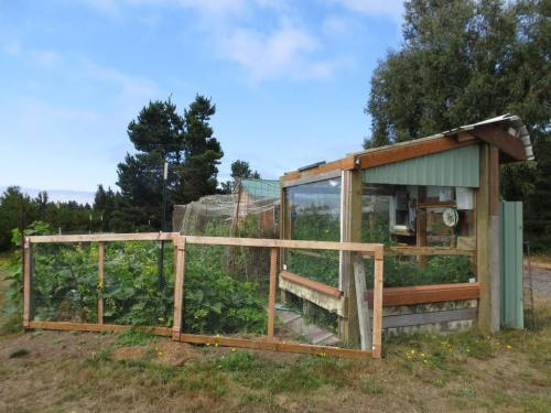 I like the homebuilt greenhouse.