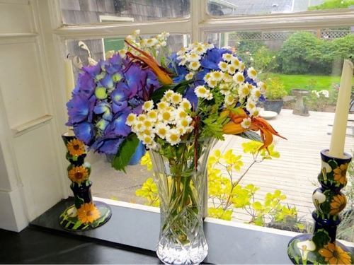 bouquet in Patti's kitchen window