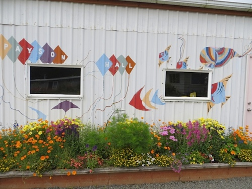 The mural is by Susan Wallace of Painted Lady Lavender Farm