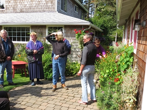 more discussion and garden admiration