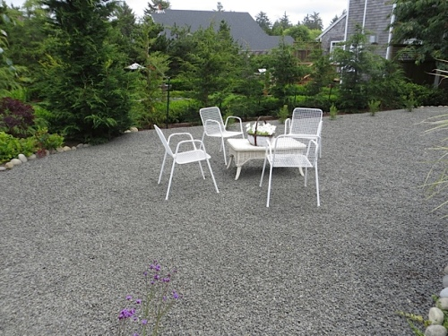 seating on the gravel expanse