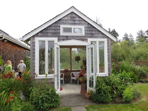 elegant garden outbuilding