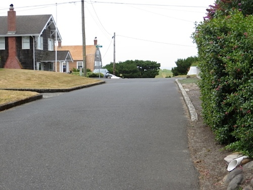 I oriented myself by looking down the street where a path to the ocean dunes lay.