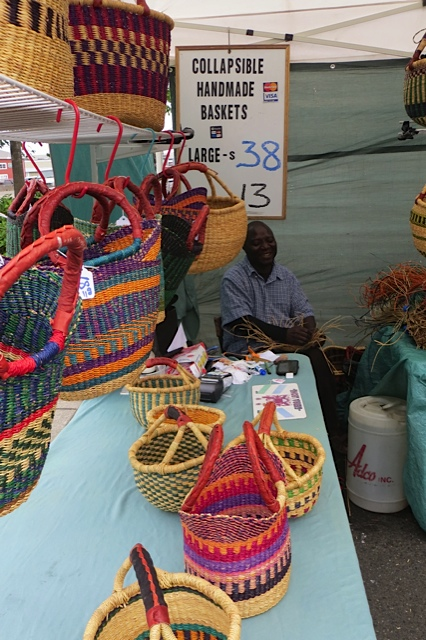 a basket maker at the north end of the market