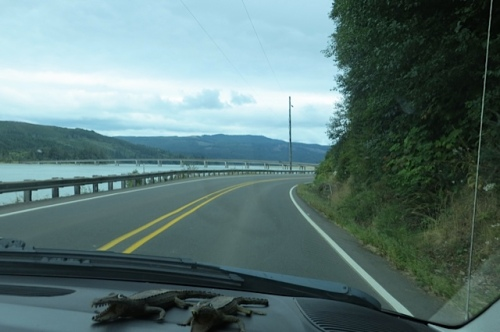 the welcome sight of the bridge where the road gets straight again