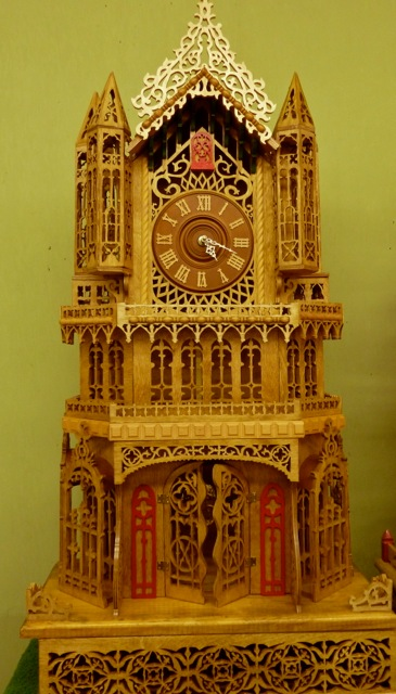 Allan's photo of a clock in the hobby barn:  Now that's beautiful!