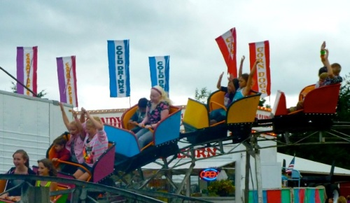 Allan's roller coaster photo.  He admits he usually had his eyes closed when going on a roller coaster.