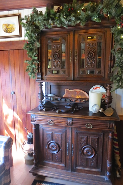 an old cabinet