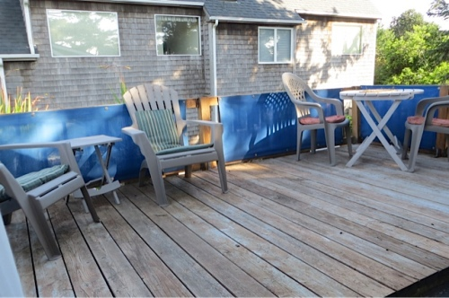 deck on east side of attic