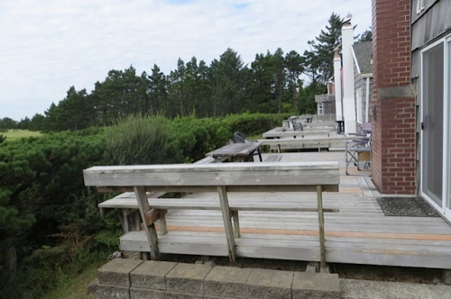west facing cottage decks at KBC