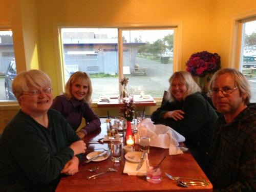 Kathleen, Donna, me, Allan at Pelicano