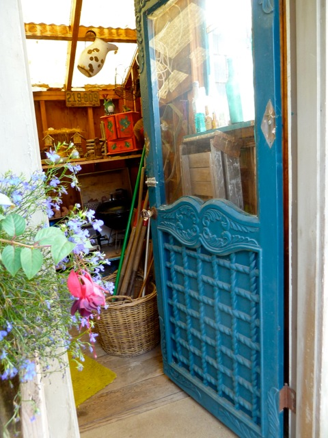 door into the garden shed