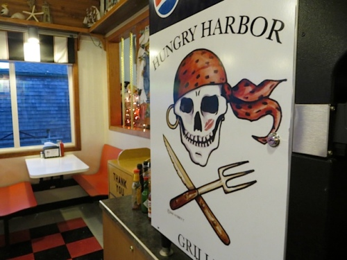 Hungry Harbor Grille, logo by Don Nisbett