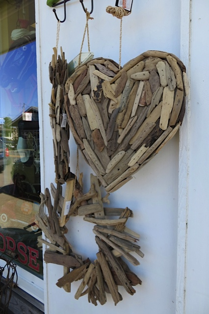 by the door of the Wooden Horse gift shop, very beachy